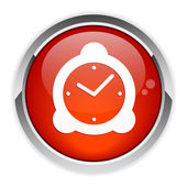 Icon hours red — Stock Vector