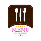 Menu kitchen colored icon logo — Stock Vector