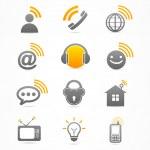 Business-Signal-Sammlung-Icon-logo — Stockvektor