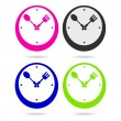 Kitchen clock icon — Stock Vector
