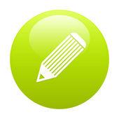 Bouton internetu pastel zelená — Stock vektor