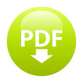 Bouton internet PDF downloading icon green — Stock Vector