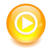 Button Flash Games Internet lecture orange — Vetor de Stock
