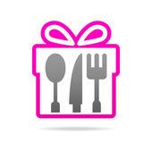 Kitchen gift set logo — Stock Vector