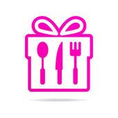 Kitchen gift set logo icon — Stock Vector