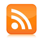 Rss button icon — Stock Photo