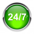 Button 24h 7h icon opened — Stock vektor