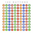 Set buttons web icon — Foto Stock