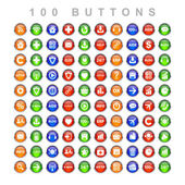 Set buttons web icon — Stock Photo
