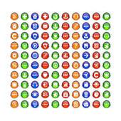 Set buttons 3D — Stock Vector