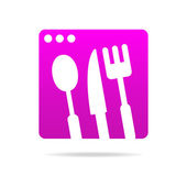 Kitchen logo sign — Stock Vector