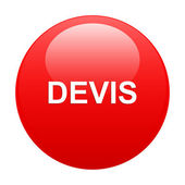 Bouton internet devis red — Stock Vector