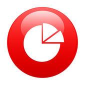 Bouton internet graphique diagramme icono rojo — Vector de stock