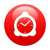 Button hours icon red — Stock Vector