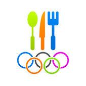 Menu olímpico — Vetor de Stock