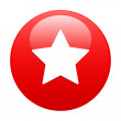 Bouton web favori star icon red — Stock Vector