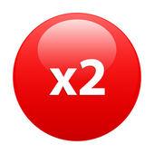 Taste beschleunigt internet 2 x rot — Stockvektor