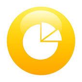 Bouton internet graphique diagramme icon orange — Stock Vector