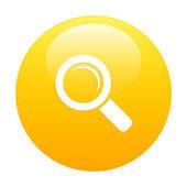 Bouton internet loupe zoom oranje — Stockvector