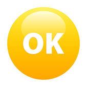 Bouton internet ok green orange — Stock Vector