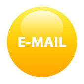 Bouton internet e-mail sign icon orange — 图库矢量图片