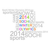 Winter Olympic Games in Sochi 2014 — Stock Vector