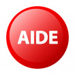 Bouton internet aide icon red — Stock Vector
