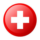 Bouton internet health red icon — Stock Vector