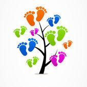 Logo business abstrakte struktur eco baby spuren — Stockvektor