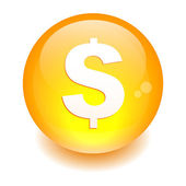 Bouton internet argent finance icon orange — Stock Vector