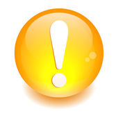 Bouton internet attention exclamation danger orange — 图库矢量图片