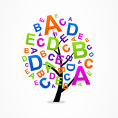 Logo business abstract tree letters ABC — Stock Vector