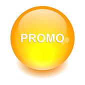 Naranja bouton internet promotio — Vector de stock
