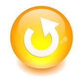 Bouton internet rejouer icon orange — Stock Vector