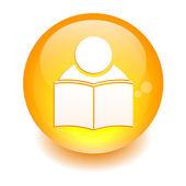 Button icon internet formation sign orange — Vetorial Stock