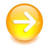 Button Internet right arrow orange — Stock Vector
