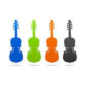 Violin contour — Stock Vector