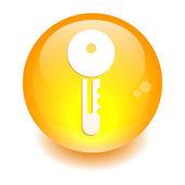 按钮关键橙色 — 图库矢量图片