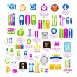 Kitchenware set business logo web icons — Stock Vector #44261117