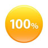 Bouton internet hundred percent icon orange sign — Stock Vector