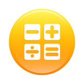 Bouton internet calculatrice icon orange sign — Vetorial Stock