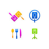 Kitchen business icon menu web logo — Vetor de Stock