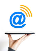 Business Icon internet signal mail — Stock Photo