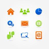 Business set button Icon Internet — Vecteur