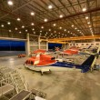 Helicopters are parking in hangar — Stock Photo #31638505