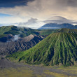 Stock Photo: Landscape of Lenticular cloud on top of Volcanoes in Bromo mount