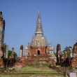 Wat Phra Si Sanphet is in Ayutthaya,Thailand — Stock Photo