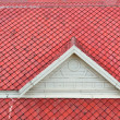 The white gable and red roof — Stock Photo