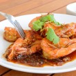 Shirmp with tamarind sauce ,Thai food — Stock Photo