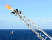 La llamarada de gas — Foto de Stock
